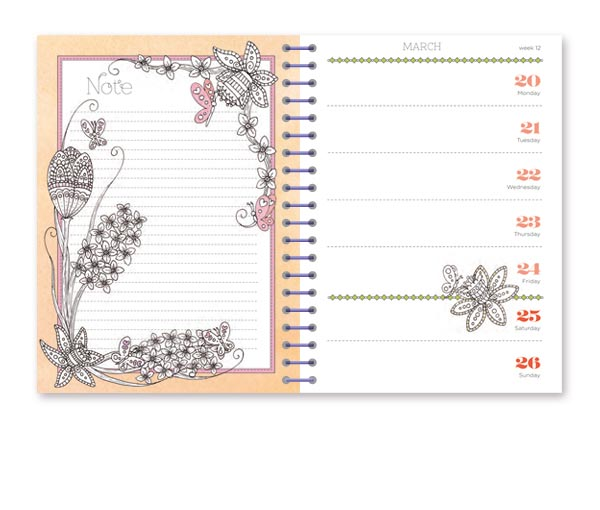 colour your days diary 4